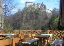 Reštaurácia pod lampášom s výhľadom na Oravský hrad